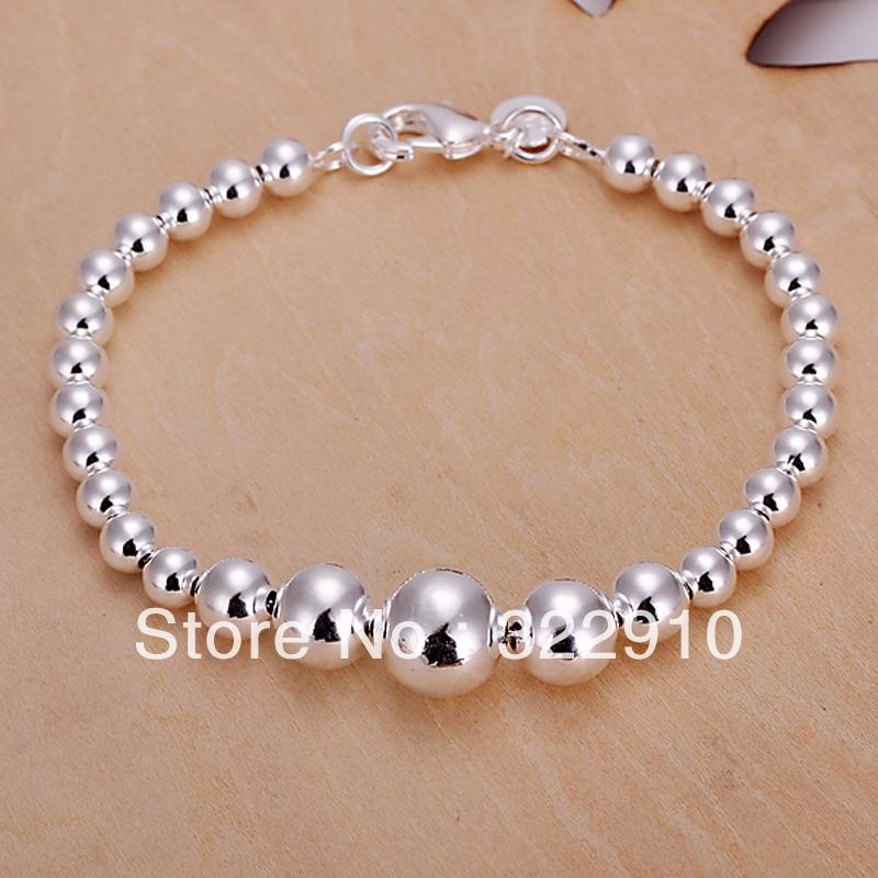Free shipping H165 /silver wood beads bracelet,fashion jewelry,trendy chain,wholesale,Nickle free antiallergic ,factory price