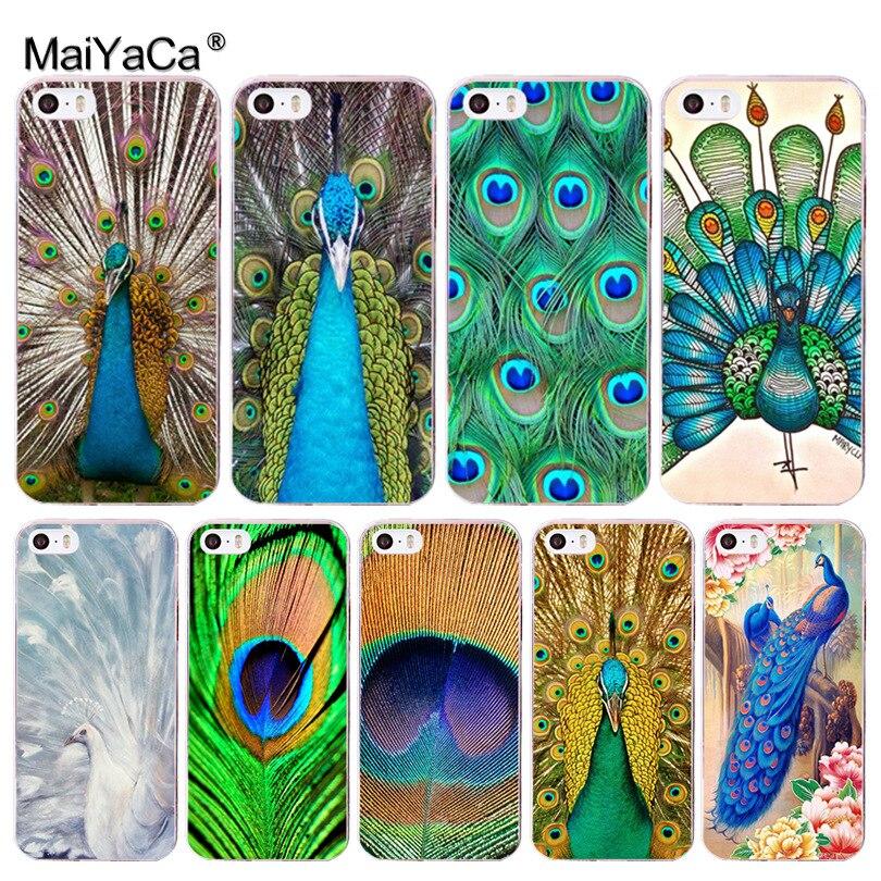 Maiyaca животных Павлин Хит продаж Мода кожи тонкий сотовый Чехол для Apple IPhone 8 7 6 6 S Plus X 5 5S SE 5C 4 4S мобильный Чехол