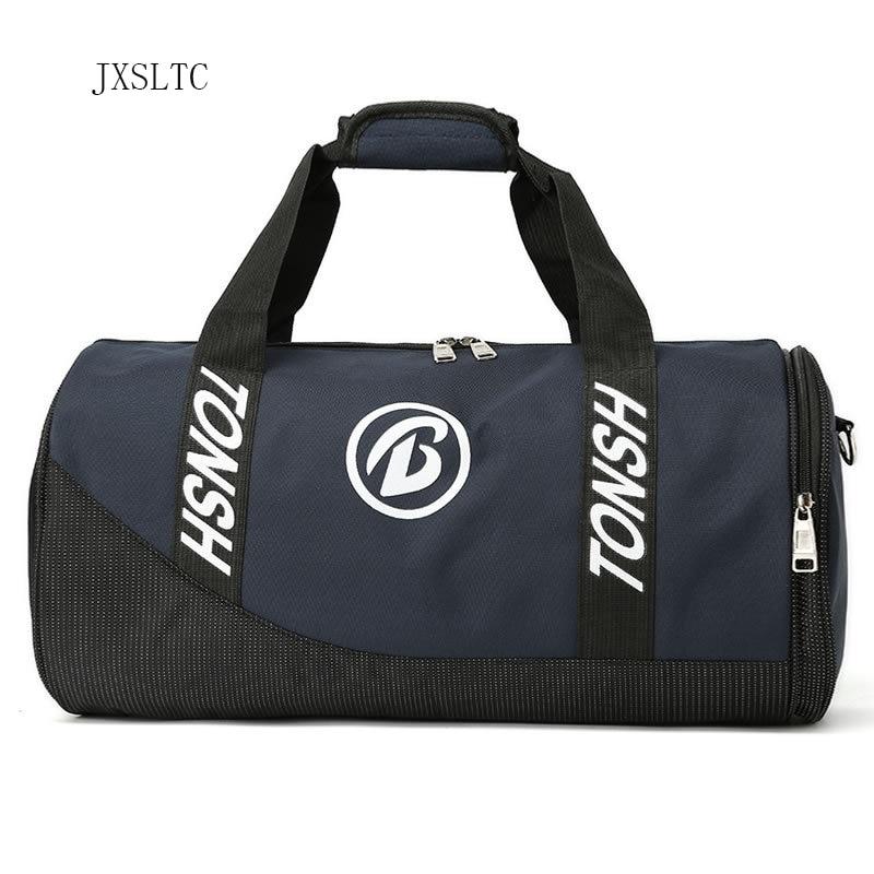 JXSLTC New Travel Bag Large Capacity Portable Handbag Bags Men / Women Sporting Waterproof Bags Independent Shoes Shoulder Bag ...