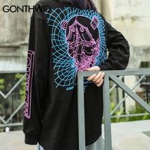 GONTHWID 3D Line Devil Printed Long Sleeve T Shirts 2020 Autumn Mens Hip Hop Casual Cotton Streetwear Tops Tees Harajuku Fashion
