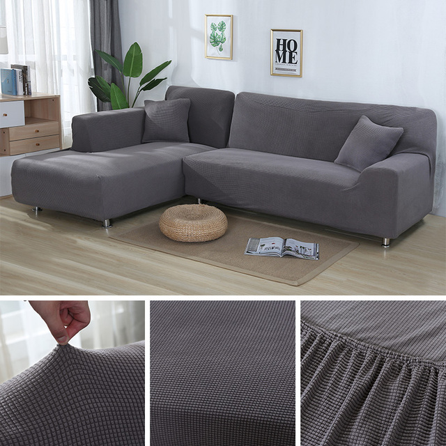 US $45.9 50% OFF|Aliexpress.com : Buy 2 pieces Covers for L Shape Sofa  Jacquard Stretch Elastic Corner Sofa Cover Living Room Chaise Lounge Couch  ...