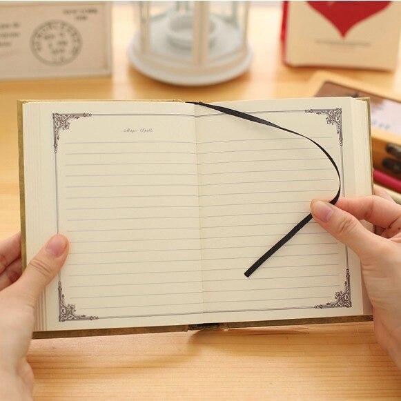 Vintage Journal Reisenden Notebook 64 Karat Hardcover Tagebuch Magie Shell Tasche Buch Planer Notizblock Office & School Supplies