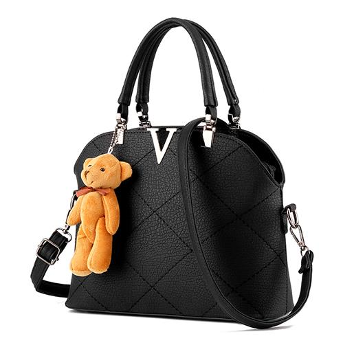 Free shipping 2017 new women PU handbag. Fashion Bear <font><b>Strap</b></font> solid shoulder <font><b>bag</b></font>. Large capacity messenger <font><b>bag</b></font>. size 28 * 21 * 12