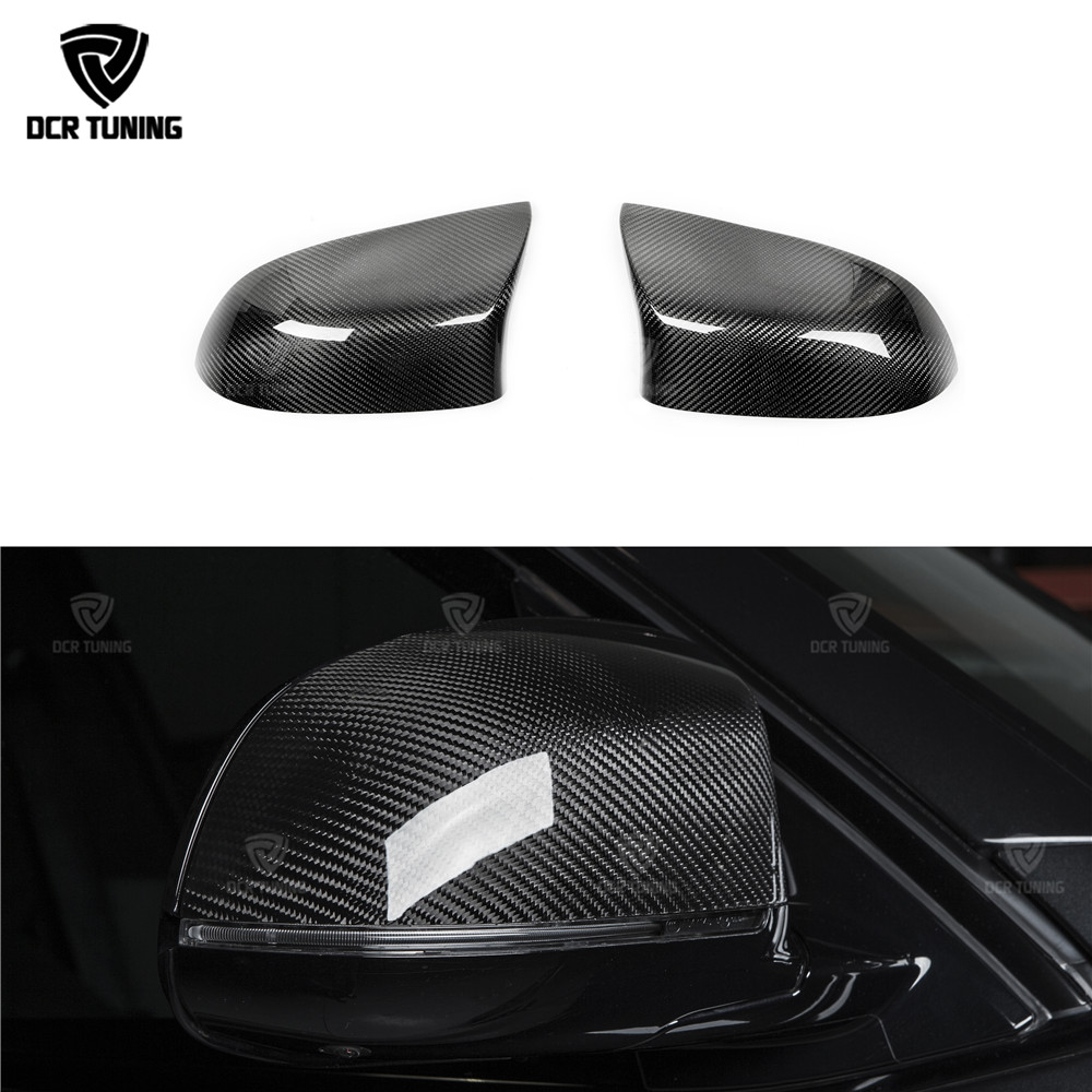 For BMW X5M F85 X6M F86 Carbon Fiber Rear View Mirror Cover Dry Carbon Add on style & Replacement Style 2 pics/pair  2015-UPFor BMW X5M F85 X6M F86 Carbon Fiber Rear View Mirror Cover Dry Carbon Add on style & Replacement Style 2 pics/pair  2015-UP