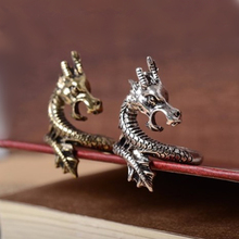 2019 New Arrival Charms Punk Fashion Exaggerated Animal Rings for Men and Women Vintage Retro Dragon Ring Jewelry Free Shipping