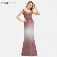 Ever Pretty Sparkle бордовые платья для выпускного вечера с v образным вырезом без рукавов, Сексуальные Вечерние Платья Vestidos Largos De Fiesta
