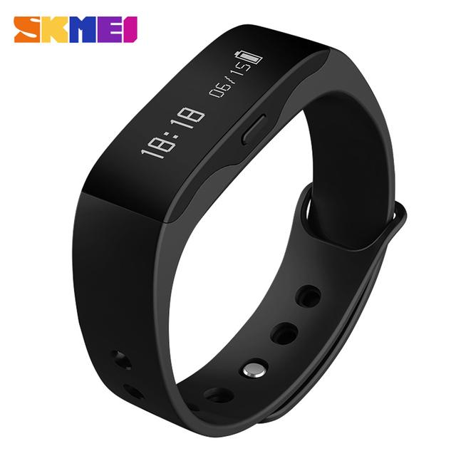 Inteligente pulseira sono aptidão l28t skmei levou assistir à prova d' água alarme rastreador de calorias pedômetro bluetooth 4.0 android 4.3 ios 7.0