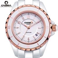 Luxury Top Brand CASIMA Womens Bracelet Watches Calendar Luminous Waterproof Ceramic Girls Quartz Wristwatch Casual Women