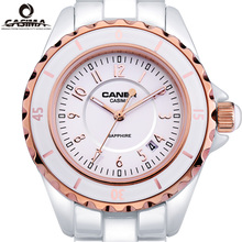 Luxury Top Brand CASIMA Womens Bracelet Watches Calendar Luminous Waterproof Ceramic Girls Quartz Wristwatch Casual Women