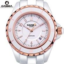 Luxury Top Brand CASIMA Womens Bracelet Watches Calendar Luminous Waterproof Ceramic Girls Quartz Wristwatch Casual Women Watch