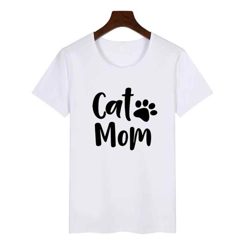 d7d0252ed0b3 ... 2018 Summer Women's New Fashion T-shirt Dog Mother Paw Print Large Size  T- ...
