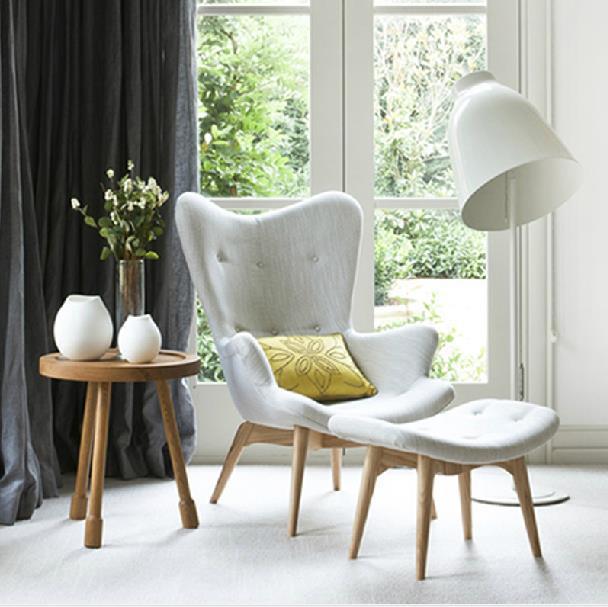 Ontwerpers stof teddy bloemblaadje make up stoel recreatie woonkamer ...