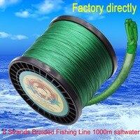 Daoud 8 нитей плетеная леска 1000 м суперпрочный, японский многонитевая плетеная леска 100LB 200LB