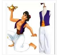 Adult Aladdin Lamp Prince Aladdin Costume Halloween Anime Cosplay Fancy Dress Adam prince Costumes
