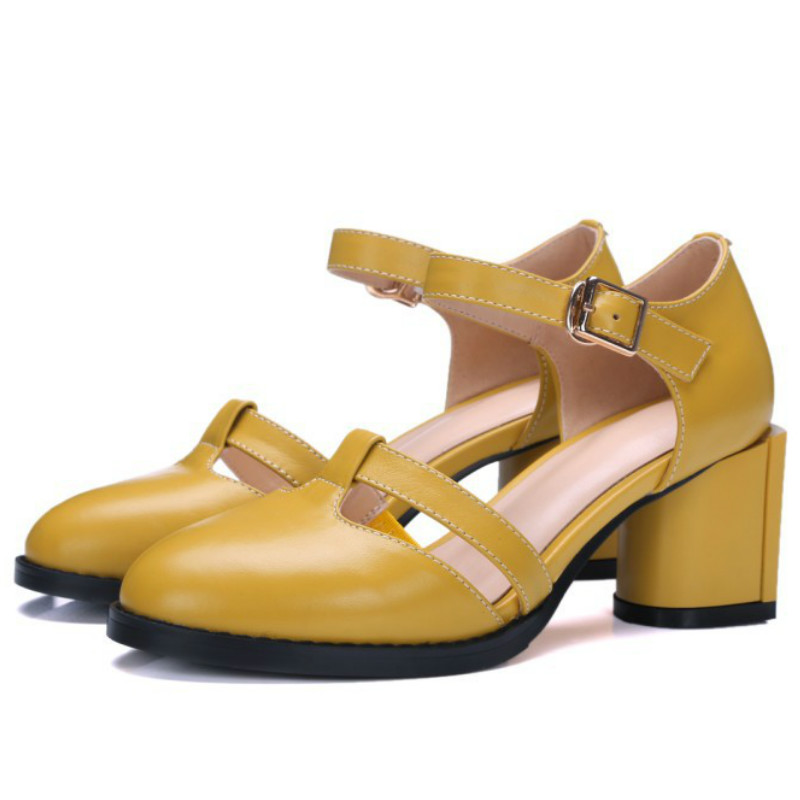 Yellow Vintage Heels Promotion-Shop for Promotional Yellow Vintage