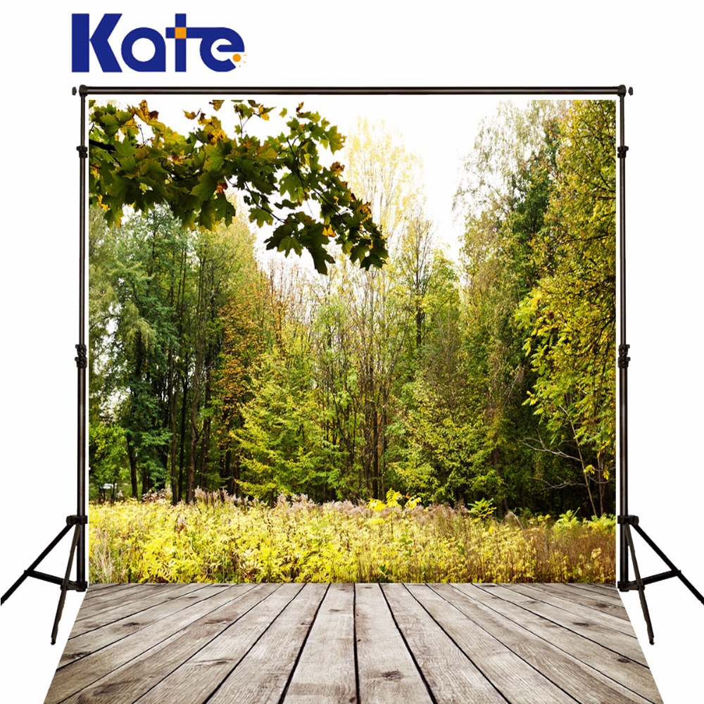 Kate Scenes Photograph Backgrounds wooden floor Photographic Backgrounds Green Trees Grass Photo Backdrops for Photo Studio flame trees of thika