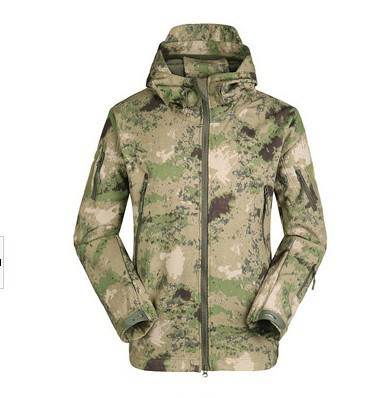 TAD Lurker Shark Skin SoftShell Jacket Men Outdoor Military Tactical Hunting Waterproof Windproof Sports Clothes Army