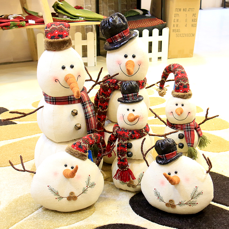 Christmas Decorations, Linen, Christmas Dolls, Snowman Dolls.