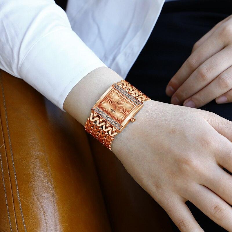 Luxury Gold Fashion Female Ladies Watches Quartz Women Famous Brand Rhinestone Watches Relojes Mujer Montre Femme