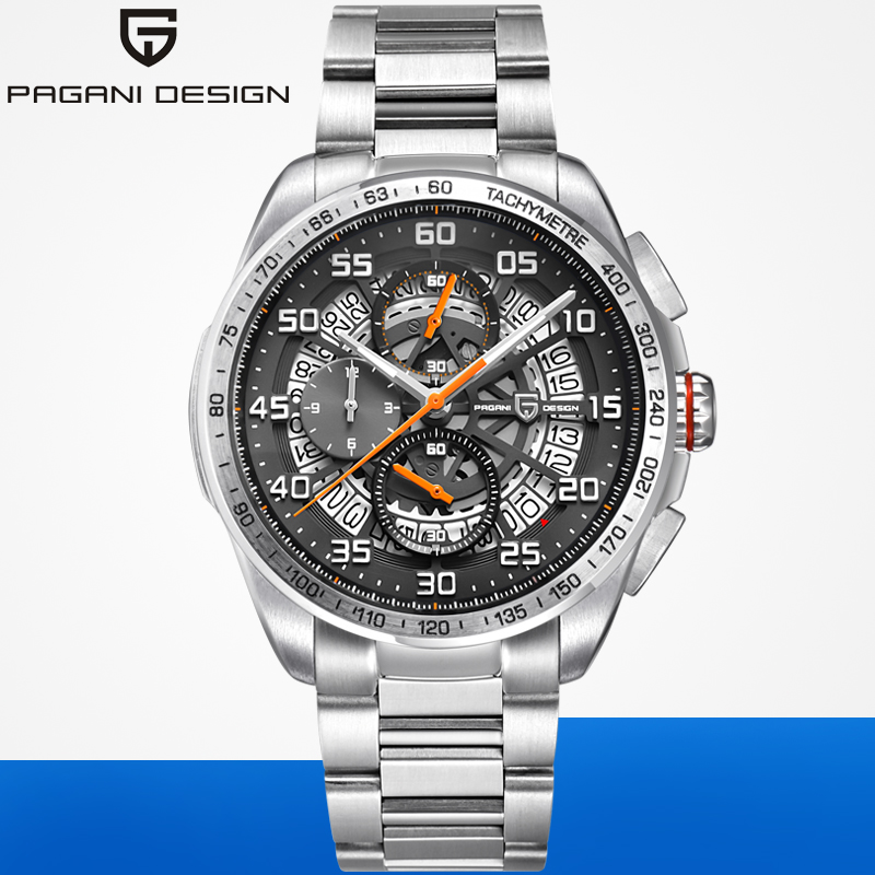 Relojes deportivos de marca de diseño PAGANI para hombre, cronógrafo militar, reloj militar de cuarzo, acero inoxidable, reloj militar para hombre, reloj Masculino, Saat