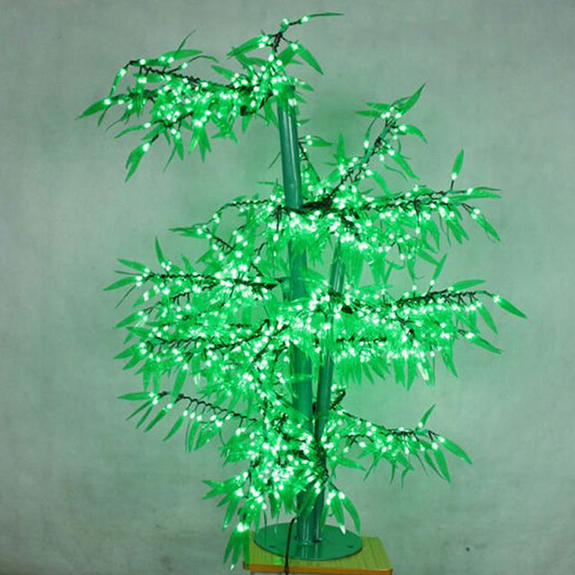 1.5Meter 972LEDS artificial christmas bamboo trees with outside tree lights