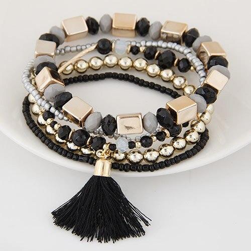 Bracelet perle bohème noir