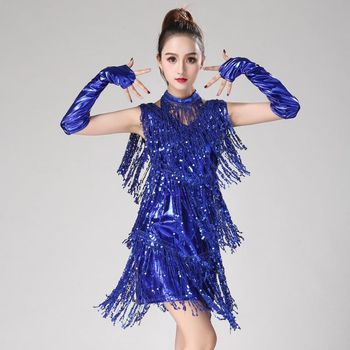 4aceb5ef 2019 vestido de baile latino para las mujeres/niñas/nuevo Sexy de Salsa/salón  de baile/Tango/Cha /Rumba/Samba/Latina vestidos de baile W2