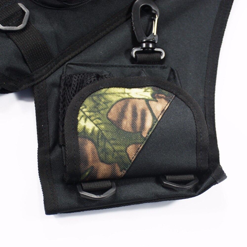 Outdoor Shoulder Archery Arrow Back Quiver Holder Bow Storage Bag Pouch Belt Strap Side Camo 4 Tubes Arrow Pot