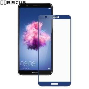 Image 1 - หน้าจอเต็มรูปแบบ Protector สำหรับ Huawei P Smart ป้องกัน PSmart FIG LX1 FIG LX2 FIG LX3 FIG LA1 FIG LX1 9H แก้ว