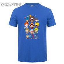One Piece Monkey D Luffy Short Sleeve Cotton Fashion Men's T-Shirt