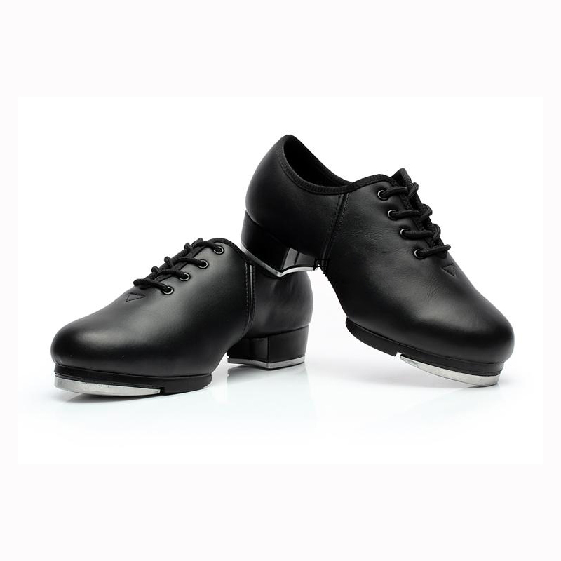 Black Genuine Leather Men/Boy's Tap Dance Shoes Kids/Adult ...