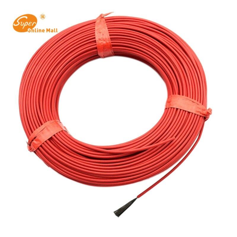 Низкая стоимость углеродный теплый пол кабель углеродное волокно нагревательный провод электрический горячей линии новый инфракрасный на...