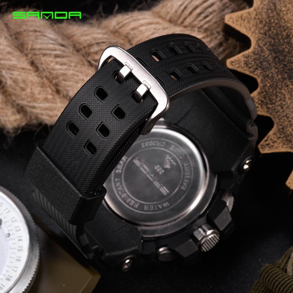 2020 SANDA montre numérique hommes marque de luxe montre militaire mode hommes Sport montre alarme chronomètre horloge mâle Relogio Masculino 6