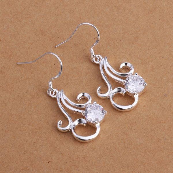 E262 Atacado banhado a prata Brincos de prata para as mulheres 925 jóias da  moda jóias, apeajgla aoaajfha 199b427b48