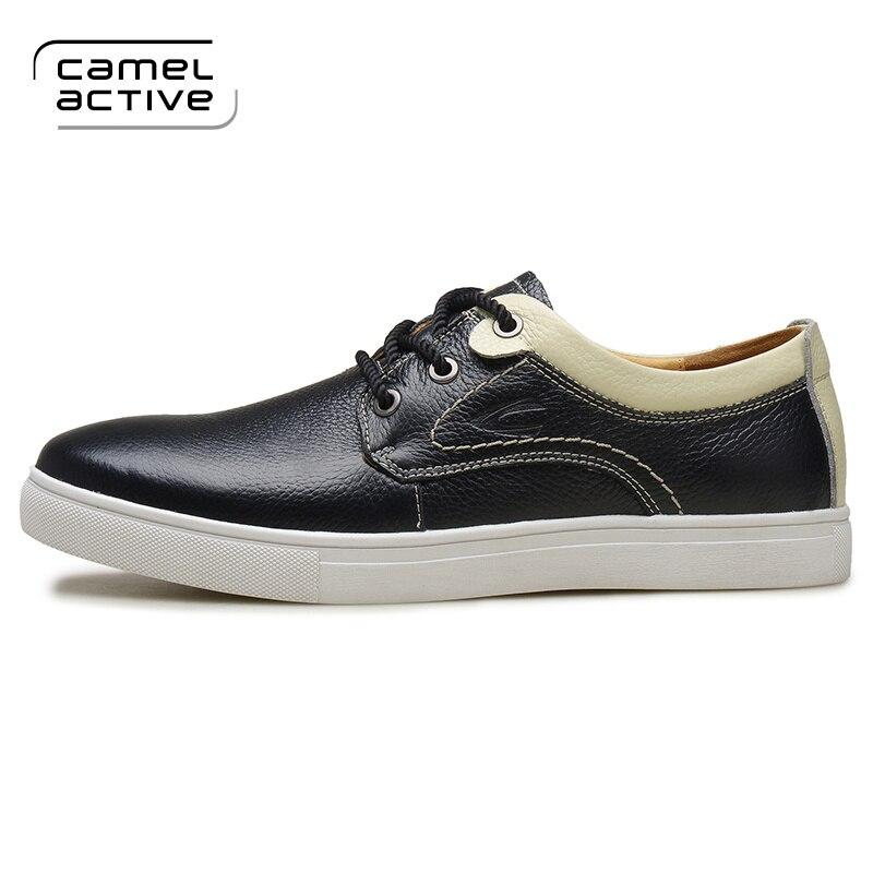 Active Chaussures Mode Arrivée Cuir Noir 2017 Casual Camel Nouvelle bleu Véritable Hommes De En dwPzt0