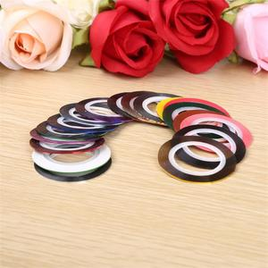 Image 2 - 10Pcs/lot Mix Colors Rolls Striping Tape Line Nail Art Decoration Sticker DIY Nail Tips Nail Manicure tools