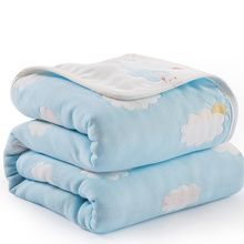 120*150cm Parent-child Baby Summer Bedding Sofa Quilt 100% Cotton Baby Personalised Blanket 6 Layer Muslin Swaddle for Newborns