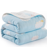 120*150cm Parent child Baby Summer Bedding Sofa Quilt 100% Cotton Baby Personalised Blanket 6 Layer Muslin Swaddle for Newborns