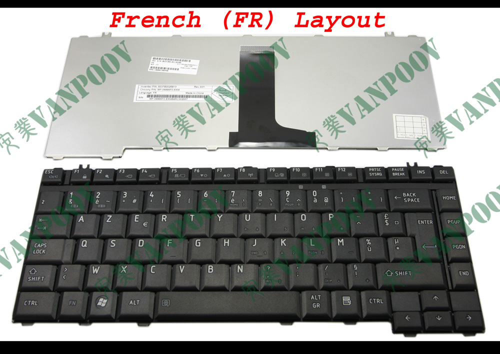 New Keyboard for Toshiba Satellite A200 A205 A210 A215 A300 M300 M500 US BLACK