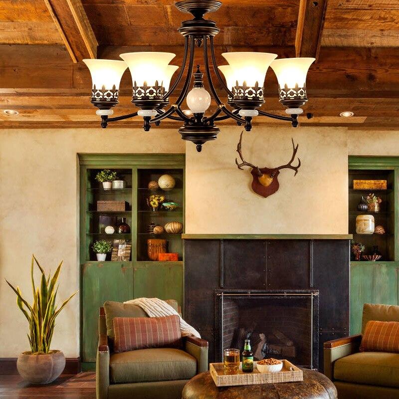 Fabricant en gros pays fer art RÉTRO Américain pendentif salle à manger chambre étude chambre d'hôtel Lustre Américain