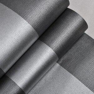 Image 4 - Verticaal Gestreept Behang Home Decor Voor Woonkamer Slaapkamer Wandbekleding Metallic Zwart Zilver Moderne Luxe Muur Papier