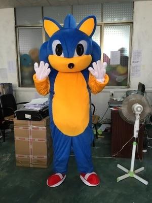 Halloween Cartoon Sonic the Hedgehog Mascot costume Sonic Mascot costume