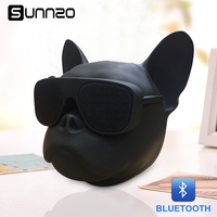 SUNNZO Bull dog Wireless Speaker Portable Mini Speaker Bluetooth Subwoofer Loudspeaker For MP3 Phone Computer W Retail Package
