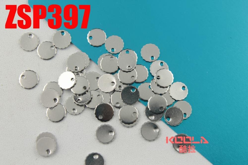 Gravure Laser LOGO 6mm petite circulaire étiquettes en acier inoxydable chaîne de queue pendentif bijoux étiquette accessoires 200-500 pièces ZSP397