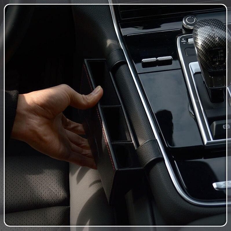 Car Organizer Leather Auto Central Gap Storage Box Container Case Holder Tray For Porsche Panamera 2017 2018 2019 Accessories