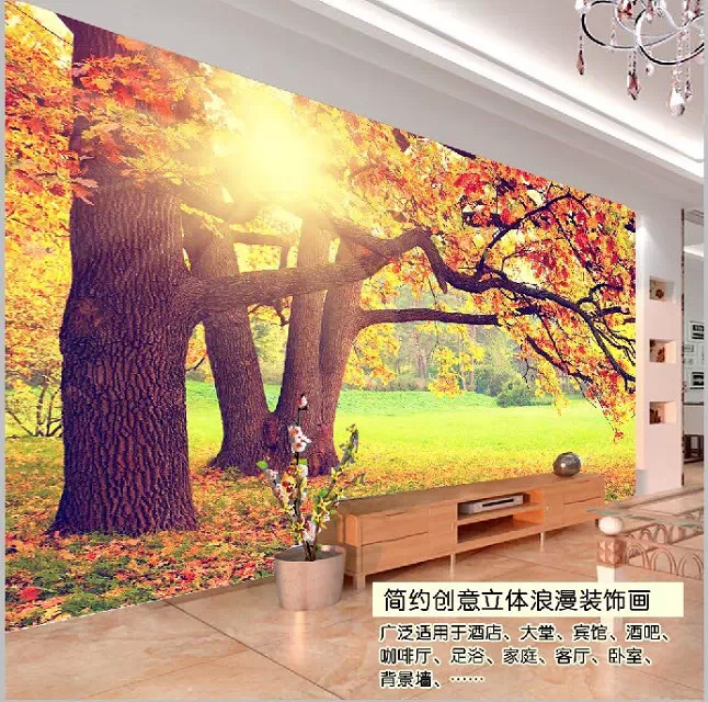 Personalized customized large mural 3D wallpaper 3D wallpaper living room TV backdrop stereoscopic 3D natural scenery tree grass custom baby wallpaper snow white and the seven dwarfs bedroom for the children s room mural backdrop stereoscopic 3d