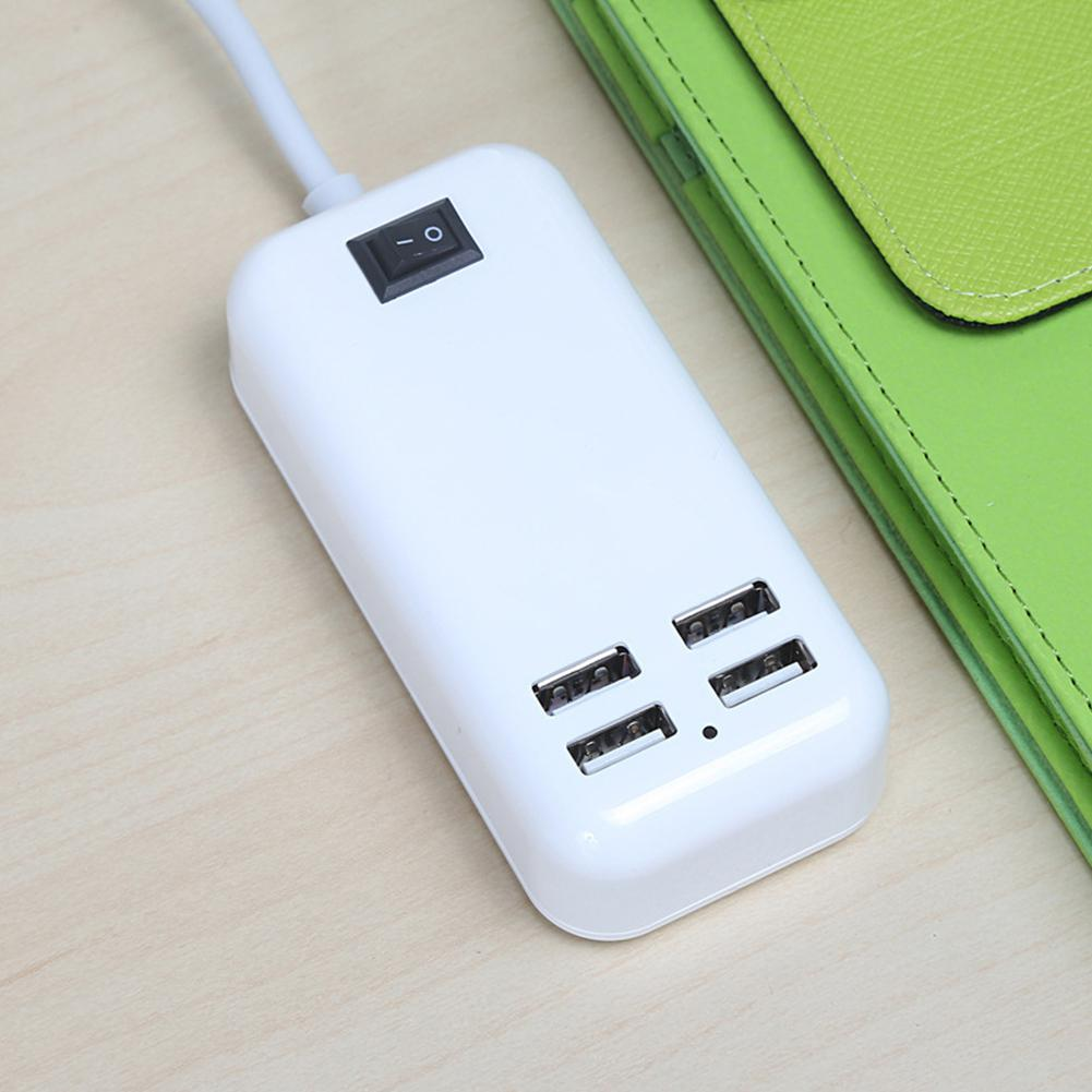 BEESCLOVER 4-Outlet/ 6-Outlet Power Travel Adapter Strip with Switch USB Wall Socket Cell Phone Desktop Charging Dock