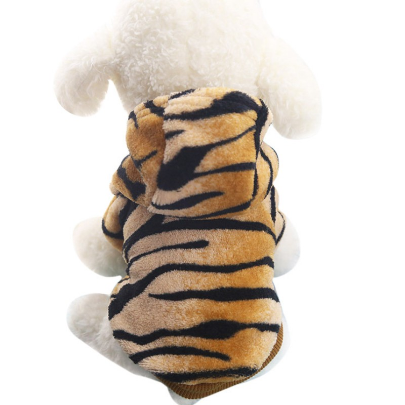√Ventas calientes Tigre patrón perro de perro caliente franela ...