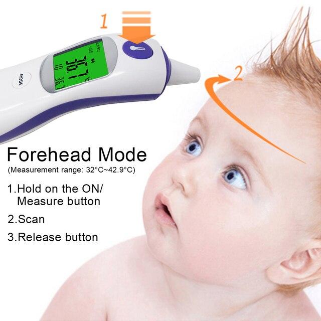 3in1 Digitale IR Infrarood-thermometer Volwassen Baby Body Oor Koorts Voorhoofd Temperatuur Meter Object Vloeistof Temperatuur Monitor 1