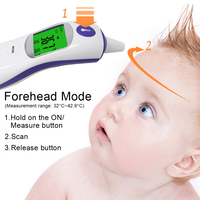 3in1 Digital IR Infrared Thermometer Adult Baby Body Ear Fever Forehead Temperature Meter Object Liquid Temperature Monitor